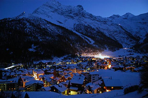 Night at the village of Saas-Fee