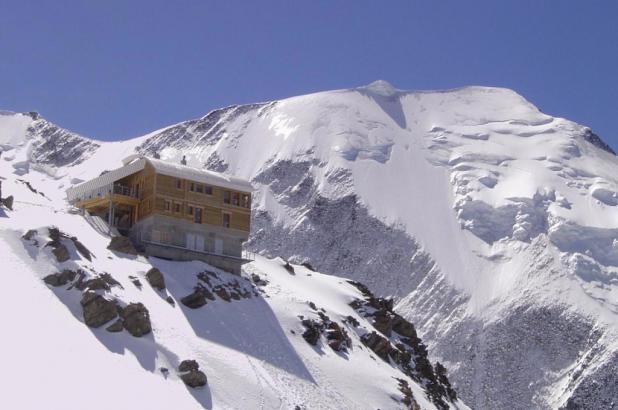 Vista refugio de Téte Rousse en St.Gervais