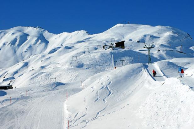 Paisaje nevado en Schatzalp