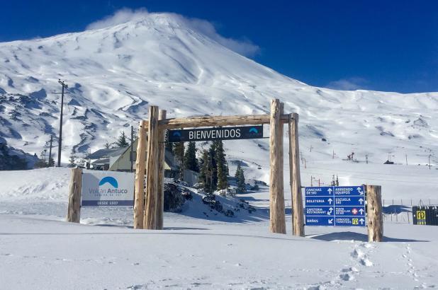 Imagen del Centro de Esquí Volcán Antuco