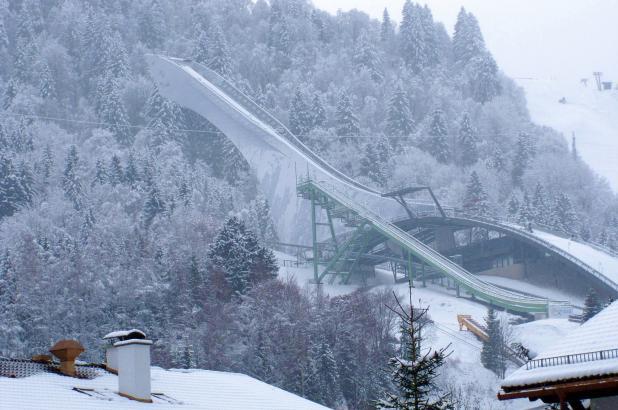 Trampolín de saltos en Garmisch-Partenkirchen