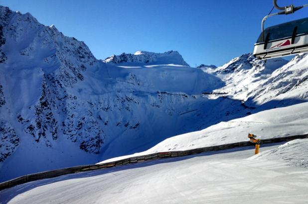 Bonita imagen del glaciar de Rettenbach