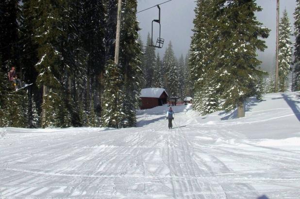 Esquiando en Spout Springs