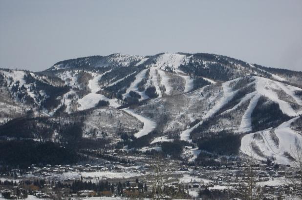 Aspecto general de la estación de esquí de Steamboat