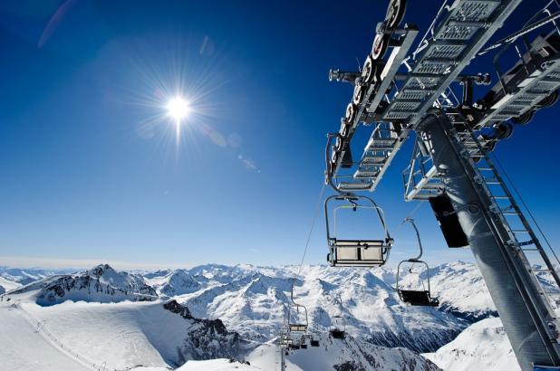 Bonita imagen del glaciar de Stubai en el Tirol austriaco