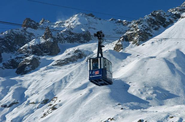 Teleférico de funivia Monte-Bianco