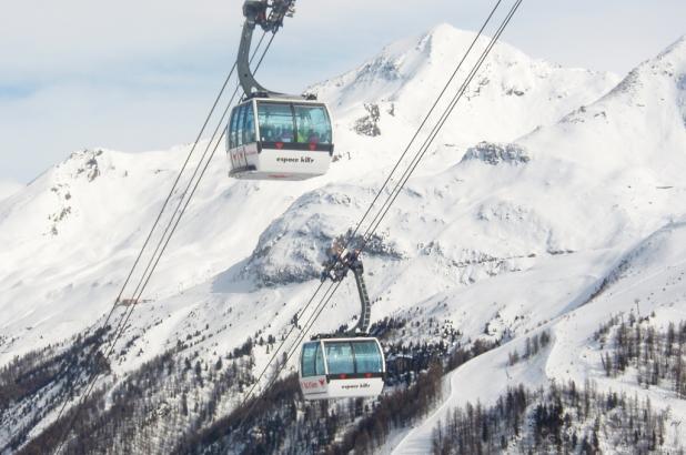 Teleférico de Solaise en Val d'Isere