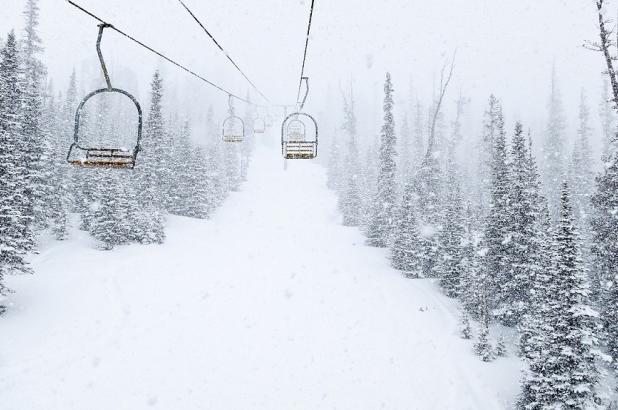 Nevando en Teton Pass