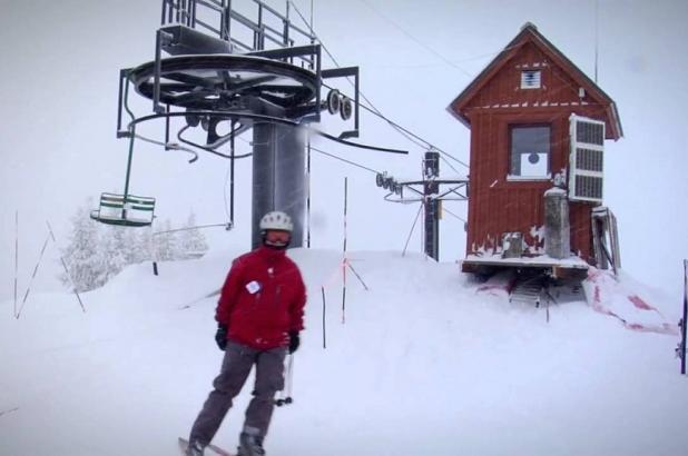 Nevando en Turner Mountain