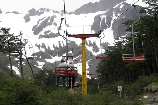 Imagen del Aerosilla del Glaciar Martial, foto Miguel Otero