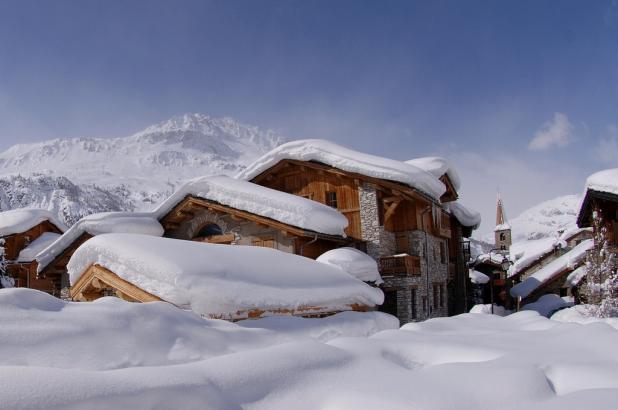 Panorámica de Val d'Isere en pleno invierno