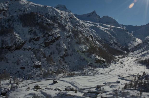 Bonito paisaje en Valsavarenche