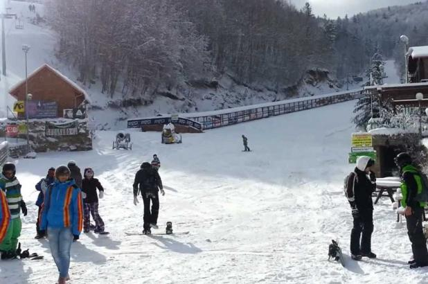 Esquiando en Villaggio Palumbo