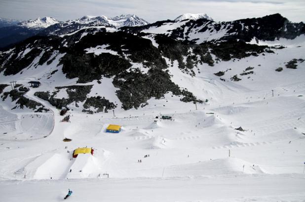 Imagen del Glaciar Hortsman, zona de esquí de verano