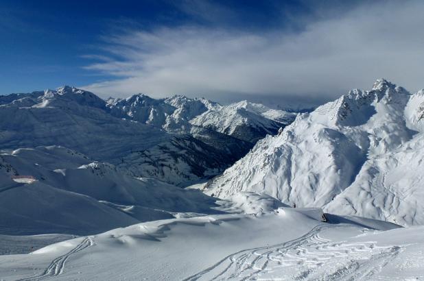 Magnífica imagen desde la cima el teleférico de Trittkopf