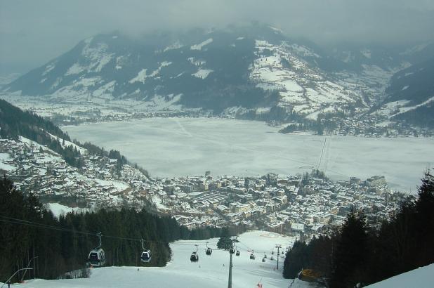 Zell amb See, vista del lago desde las pistas
