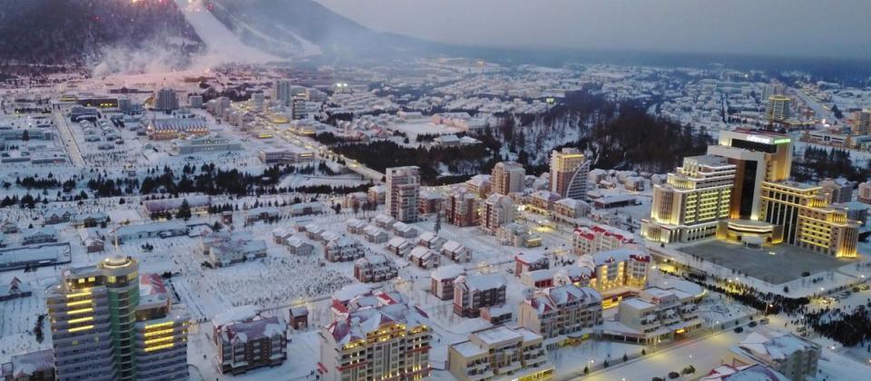 Kim Jon Un crea una ciudad de la nada con una estación de esquí de lujo en Corea del Norte
