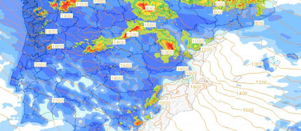 Previsión Meteo fin de semana: Lluvias intensas y nevadas en norte de la Península