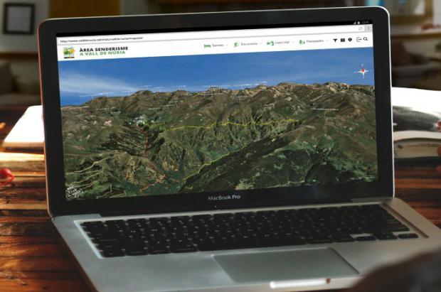 Vall de Núria incorpora un mapa 3D en su web y apps