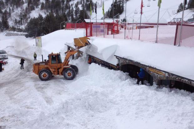 Los espesores de nieve acumulados en Arcalís superan los registros de febrero de 1996
