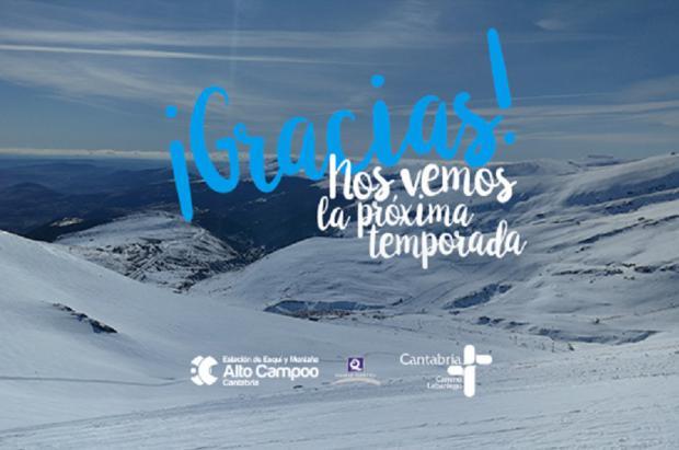 Alto Campoo cierra la temporada con 114.000 esquiadores y 100 días abierta