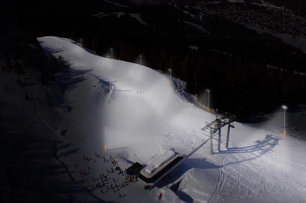 La estación italiana de Aprica trabaja para tener la pista de esquí nocturno más larga de Europa