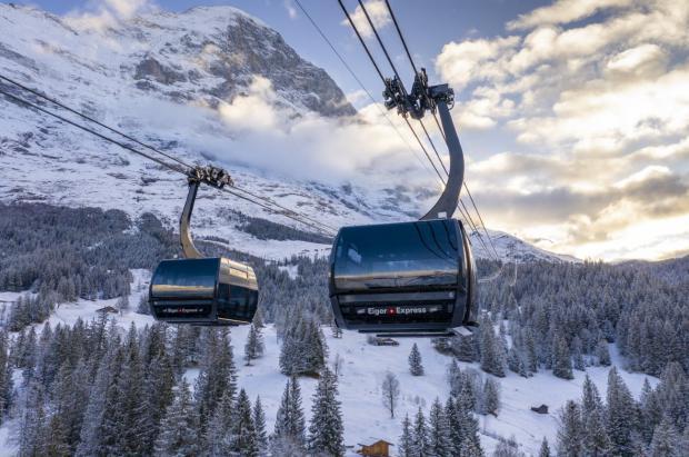 Jungfrau estrena el Eiger Express, el telecabina más moderno de los Alpes
