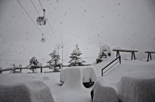 Nevada en Grandvalira del martes 15 de enero del 2012