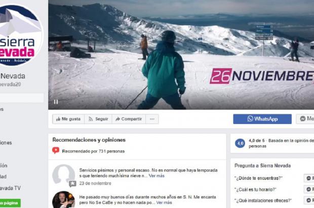 Sierra Nevada, a la cabeza de las 20 estaciones de esquí más populares en Instagram y Facebook