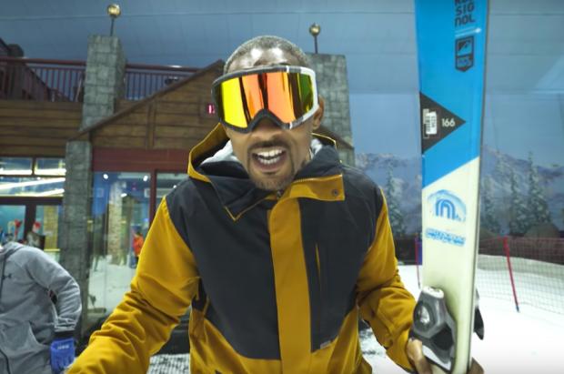 El actor Will Smith y su esposa se van a esquiar a… Ski Dubai