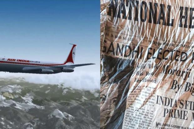 Mont-Blanc: hallados los periódicos del accidente del avión Air India escupidos por el glaciar
