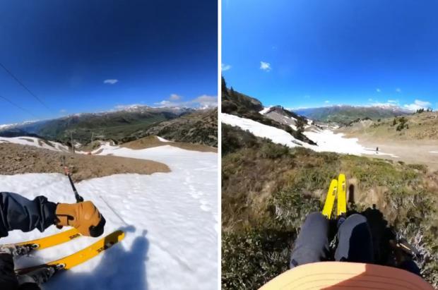 Adrià Millan publica un vídeo donde apura las últimas nieves de Baqueira