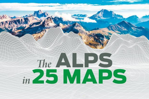Los Alpes en 25 interesantes mapas