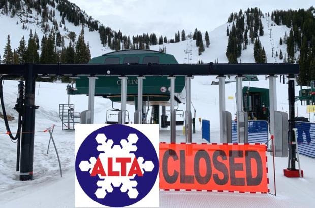 Cierre en cadena de los resorts de esquí de América del Norte debido al coronavirus