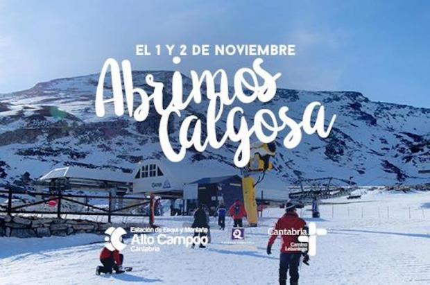 Alto Campoo se apunta a abrir este 1 de noviembre y gratis