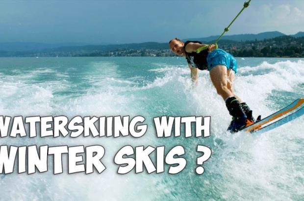 """Vídeo: Andri Ragettli se calzó unas botas y esquís para marcarse un """"waterskiing"""" en el lago Zúrich"""
