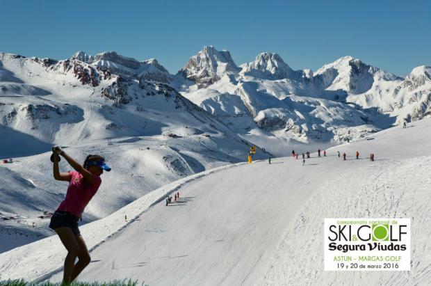 Dos deportes y un solo objetivo: llega a Astún el Campeonato de España Ski & Golf