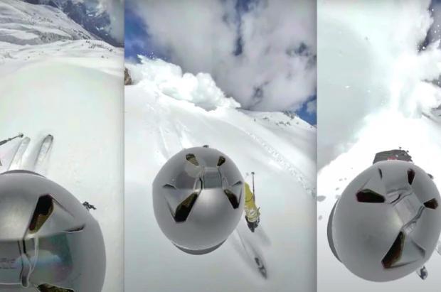 Una GoPro captura el instante en el que una avalancha atrapa a un esquiador sin saberlo