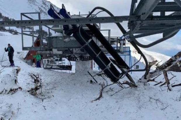 Se produjo una importante avalancha en el centro de esquí La Hoya