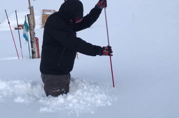 El Azufre, donde está proyectada la nueva estación de esquí, acumula casi 3 metros de nieve