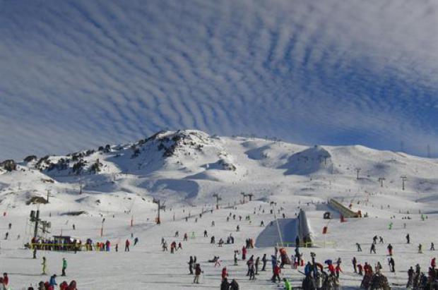 Afluencia esquiadores en Baqueira navidad 2012