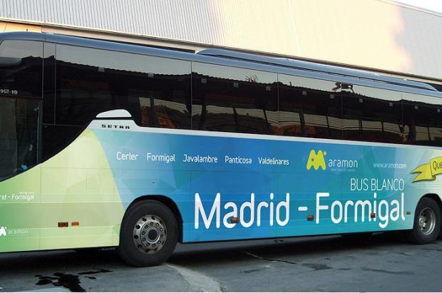 El Bus Blanco vuelve a unir Madrid con el Pirineo de Aramón