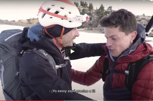 """Un vídeo reúne a rescatador y rescatado de un accidente en el Pirineo: """"estoy vivo gracias a ti"""""""