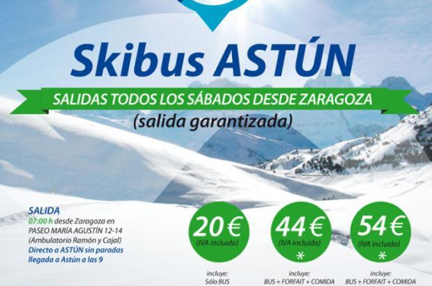 Nuevo servicio diario de Ski Bus entre Zaragoza y Astún