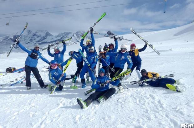 El Equipo de Alpino del CETDI-Aragón está preparado para su examen en la alta competición