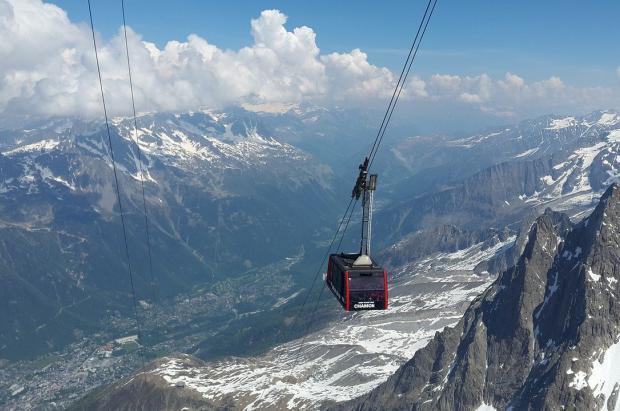 Cámaras termográficas que detectan la fiebre a los esquiadores que suben a la Aiguille du Midi