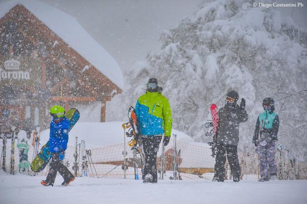 Imágenes de la gran nevada de Cerro Chapelco