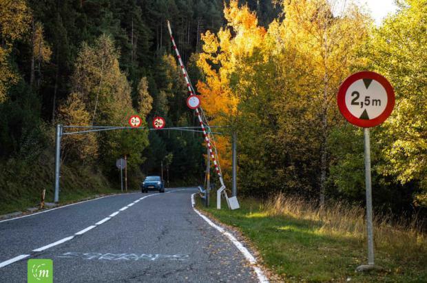 La carretera del puerto de Ordino se ha cerrado este jueves hasta la primavera