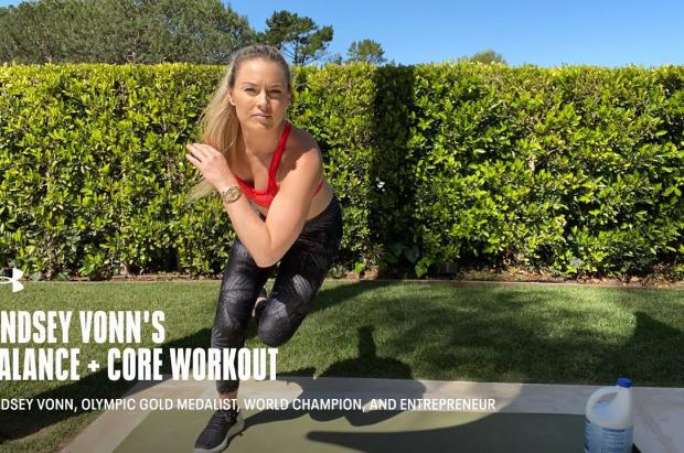 Lindsey Vonn comparte su rutina de ejercicios para los esquiadores durante el verano en casa