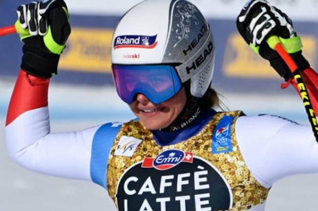 Corinne Suter es la primera suiza campeona del Mundo de descenso en tres décadas